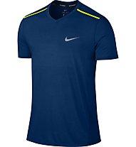 Nike Breathe Tailwind - Runningshirt Kurzarm - Herren, Blue