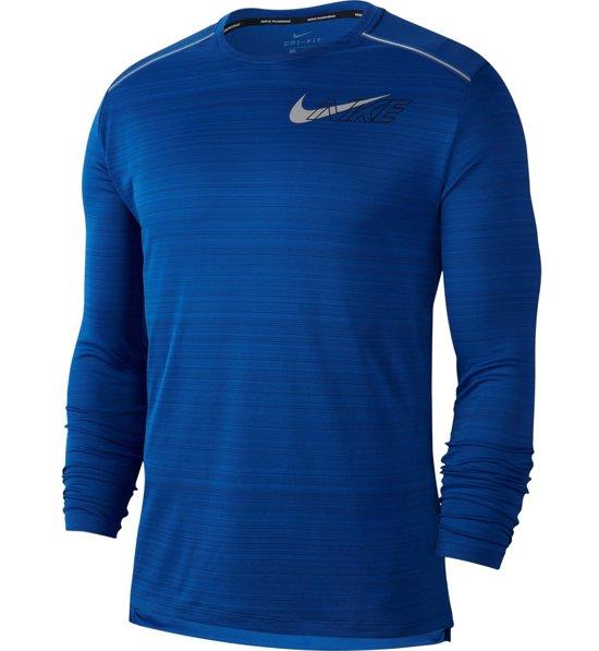 Nike Miler Top LS Langarm Laufshirt Herren Schwarz online