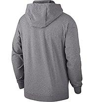 Details zu Nike Dri Fit Training Hoodie grau weiß Herren Kapuzenpullover Trainingstop NEU