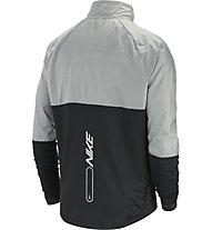Nike Element 1/2-Zip Graphic Running - felpa running - uomo, Grey/Black