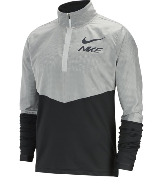 Nike Element Men's 12 Zip Graphic Running Top Laufpullover |