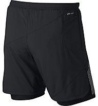 Nike Flex 2in1 Distance - kurze Laufhose - Herren, Black
