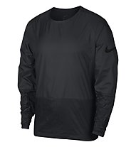 Nike LS Crew Jacket Crinkle - maglia running - uomo, Black