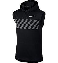 Nike Hoodie - ärmelloses Runningshirt mit Kapuze - Herren, Black