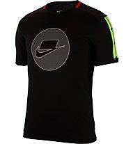 Nike Short-Sleeve Running Top - Laufshirt - Herren, Black