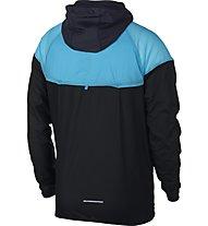Nike Windrunner - giacca a vento running - uomo, Black/Light Blue