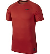 Nike Pro Short-Sleeve Top - T-Shirt Training - Herren, Red