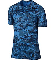 Nike Pro Hypercool - Trainingsshirt Kurzarm - Herren, Blue