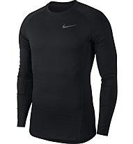 Nike Pro Warm Therma Top LS - langärmliges Fitness-Shirt - Herren, Black