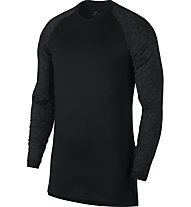 Nike Pro Top Ls Utility Therma - langärmliges Fitness-Shirt - Herren, Black