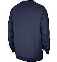 Nike M NSW Fleece Crew - Pullover - Herren, Blue/White