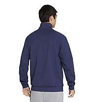 Nike M NSW Modern 1/2-Zip Fleece - felpa - uomo, Blue/White