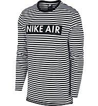 Nike Sportswear Air Top LS - Langarmshirt - Herren, White/Black