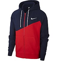 Nike Sportswear Swoosh Full-Zip Hoodie - Kapuzenjacke - Herren, Blue/Red