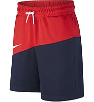 Nike Sportswear Swoosh French Terry Shorts - Trainingshose kurz - Herren, Blue/Red