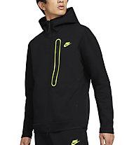Nike M NSW Tech Fleece FZ - Kapuzenpullover - Herren, Black/Yellow