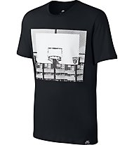 Nike Basketball Hoop - Fitness T-Shirt - Herren, Black
