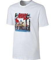 Nike Hybrid Photo - Fitness-Shirt - Herren, White