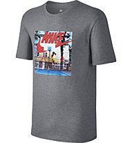 Nike Hybrid Photo - Fitness-Shirt - Herren, Grey