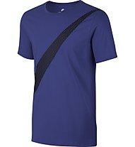 Nike NSW Print PK Swoosh - Sportshirt - Herren, Blue