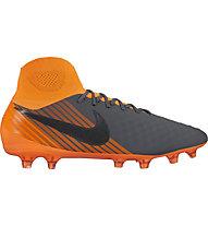 Nike Magista Obra 2 Pro Dynamic Fit FG - scarpe da calcio per terreni compatti, Grey/Orange