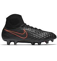 Nike Magista Obra II FG - scarpe da calcio terreni compatti, Black