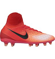 Nike Magista Obra II FG Jr Kinder-Fußballschuhe für normale (feste) Rasenplätze, Red
