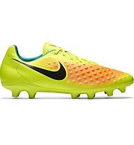 Nike Magista Onda II FG - scarpe da calcio terreni compatti, Volt/Black/Orange
