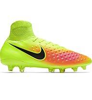 Nike Magista Orden II FG - scarpa da calcio terreni compatti, Volt/Black
