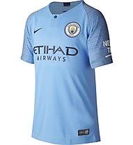 Nike Manchester City FC Stadium Home - Fußballtrikot - Jungen, Light Blue