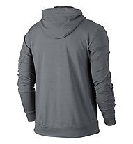 Nike Men Dry Training Hoodie Giacca con cappuccio fitness, Grey