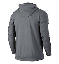 Nike Dri-FIT Training Fleece Hoodie Kapuzenjacke Herren, Grey