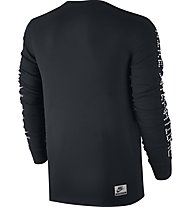 Nike Men Internationalist Top Maglia a manica lunga fitness, Black