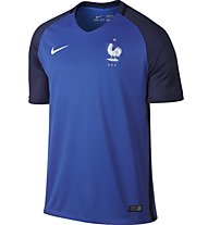 Nike Men's FFF Stadium Top - maglia calcio Nazionale Francia, Hyper Cobalt/White