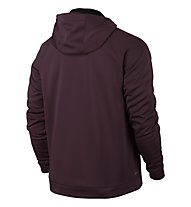 Nike Men Therma-Sphere Training Hoodie Giacca con cappuccio fitness, Dark Red