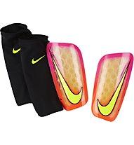 Nike Mercurial Flylite Fußball-Schienbeinschützer, Orange/Yellow/Pink