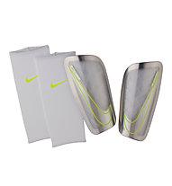 Nike Mercurial Lite Fußball Schienbeinschoner, White/Chrome