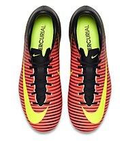 Nike Jr. Mercurial Vapor XI FG - Kinder-Fußballschuhe, Total Crimson/Vlt-Blk-Pink