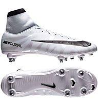 Nike Mercurial Victory VI CR7 DF SG - Fußballschuhe nasser schwerer Boden, White/Light Blue