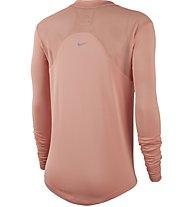 Nike Miler Women's LS Run - Langarmshirt - Damen, Rose