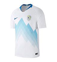 Nike Replika Slovenien Heimtrikot 2018 - Fußballtrikot - Herren, White/Light Blue
