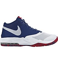 Nike Air Max Emergent Basketball-Schuhe, White/Blue