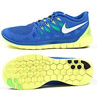 Nike Nike Free 5.0 - scarpe running uomo, Blue/Yellow