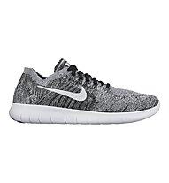 Nike Free Run Flyknit 2 - Laufschuh - Herren, Black/White