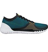 Nike Free Trainer 3.0 Trainingsschuh, Black/White/Emerald