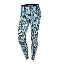 Nike Nike Leg-A-See Mishmash Allover Print Leggings, Light Blue Lacquer/Black