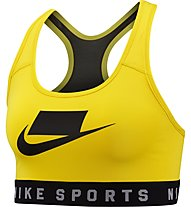 Nike Lace Back Swoosh Medium Support Sports Bra - Sport BH mittlerer Halt, Yellow