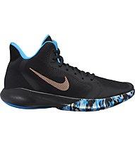 Nike Precision III - scarpe da basket - uomo, Black/Blue