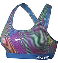 Nike Pro Classic Padded Frequency reggiseno, Multicolor