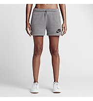 Nike Rally Logo Shorts pantaloncini da ginnastica donna, Carbon Heather